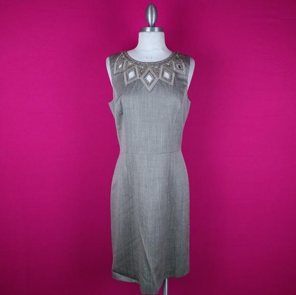 7ced815d5a7 ANTONIO MELANI Dresses   Skirts - Antonio melani size 6 tan career Sheath  dress